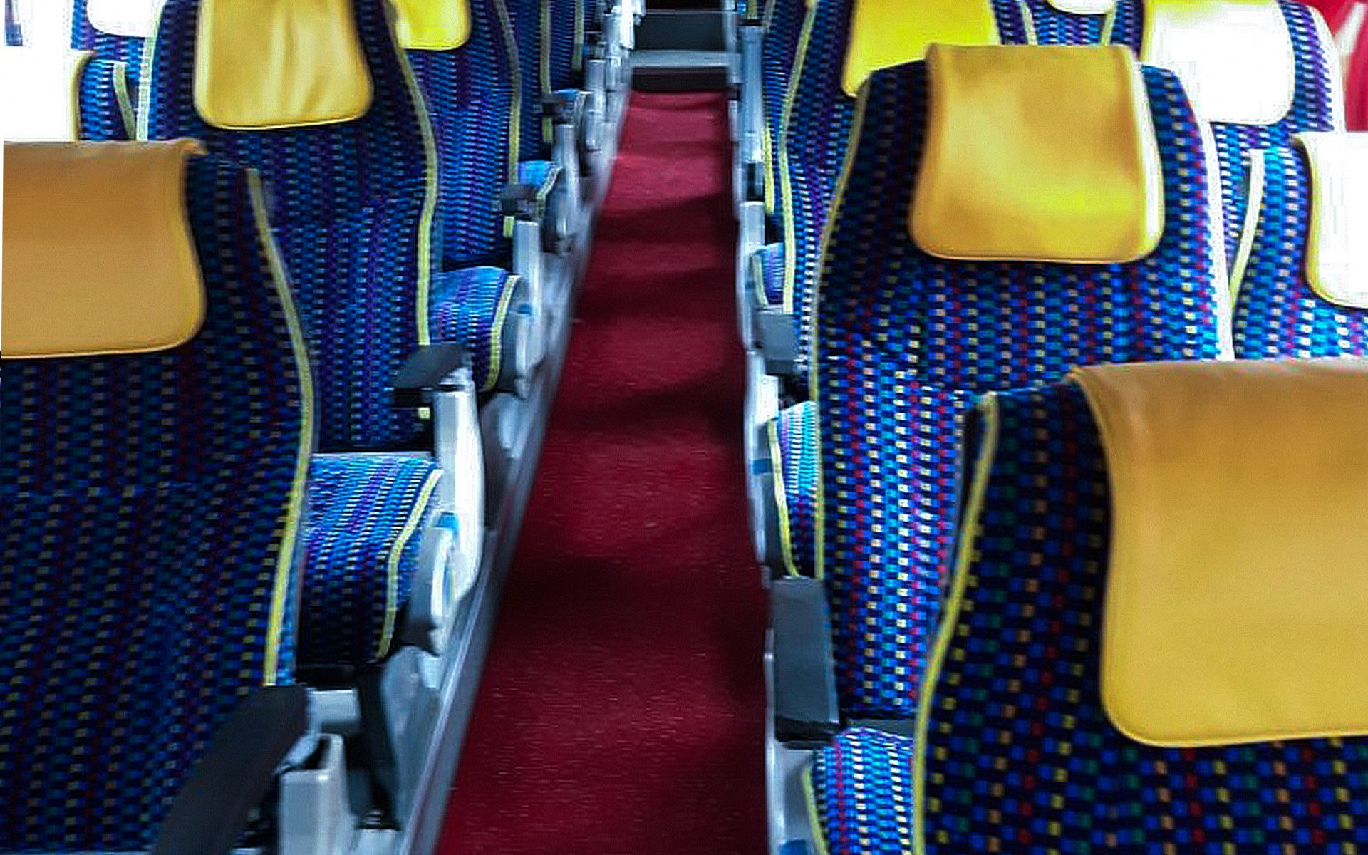 Automotive Velvet  Bus Seating