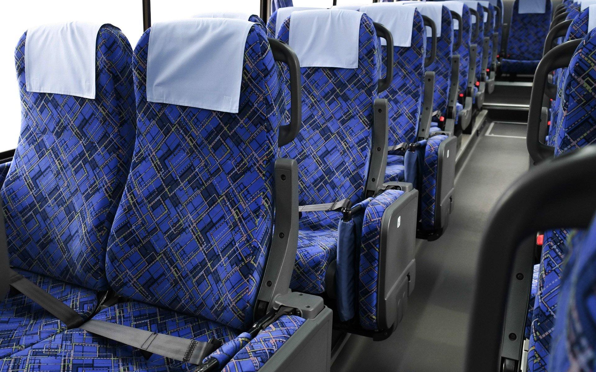 Automotive Velvet  Bus Seating